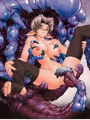Scorching babes get scorched by tentacles